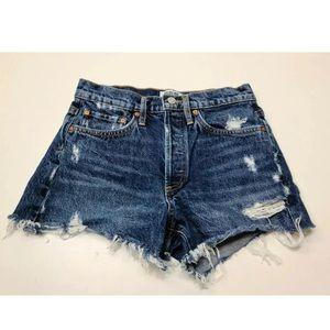 AGOLDE Parker Vintage Cut Off Denim Shorts Size 25